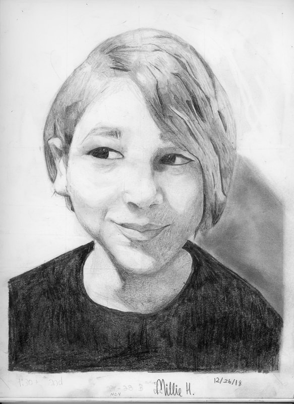 Millie, age 11 Self-Portrait